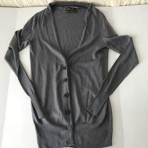 Zara gray cashmere cardigan